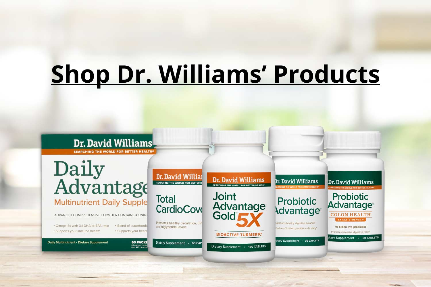 Shop Dr. Williams' Products