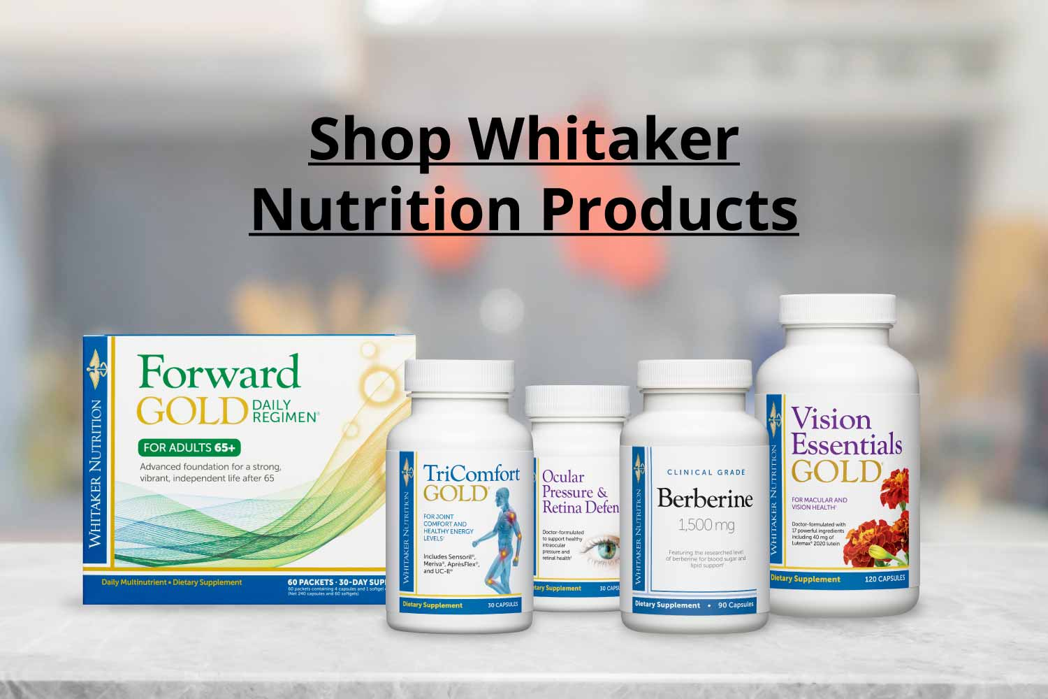 Shop Whitaker Nutrition Products